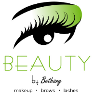 BEAUTY by Bethany logo, Bethany Tiesman, Louisville, KY Makeup Artist, Brows, Lashes, Bridal makeup, Kentucky