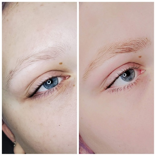 Brow service photo for Beauty by Bethany, Bethany Tiesman, bridal, lash and brow artist in Louisville KY
